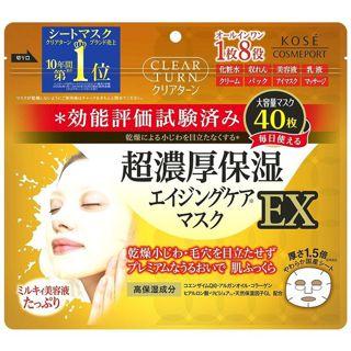 クリアターン コーセー クリアターン 超濃厚保湿 マスク EX 40枚入の画像