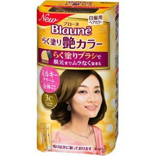 花王 ブローネ らく塗り艶カラー 3C :キャラメルブラウンの画像