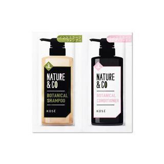 Nature&Co コーセー ネイチャーアンドコー ボタニカル シャンプー&コンディショナー 各1回分 (各10mL) ノンシリコンの画像