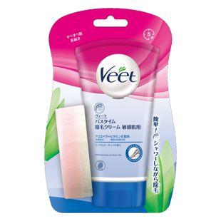 Veet バスタイム除毛クリーム 敏感肌用 <医薬部外品> 150g【チューブ+スポンジ】 の画像 0