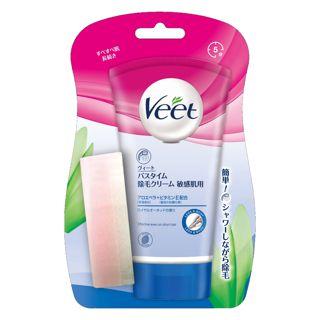 Veet バスタイム除毛クリーム  敏感肌用  <医薬部外品> 150g【チューブ+スポンジ】の画像