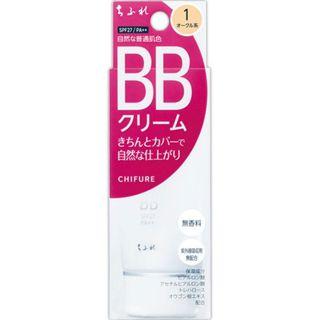 ちふれ BB クリーム 1 オークル系/自然な普通肌色 50g SPF27 PA++の画像