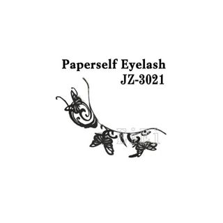 null アートペーパーラッシュ,つけまつげ,プロ用,紙のつけまつ毛,新感覚のアイラッシュ 蝶と波紋 JZ-3021の画像