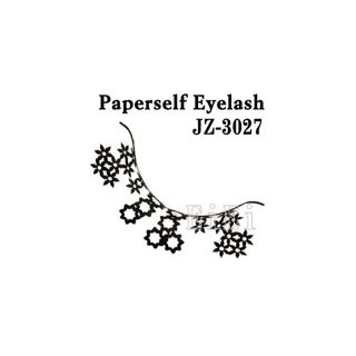 null アートペーパーラッシュ,つけまつげ,プロ用,紙のつけまつ毛,新感覚のアイラッシュ フラワーパターン JZ-3027の画像