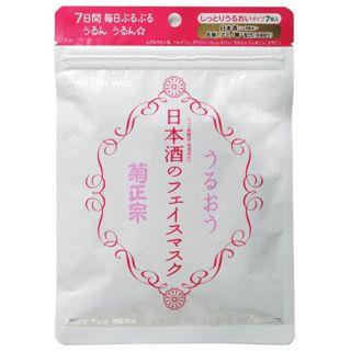 菊正宗 日本酒のフェイスマスク 7枚入りの画像