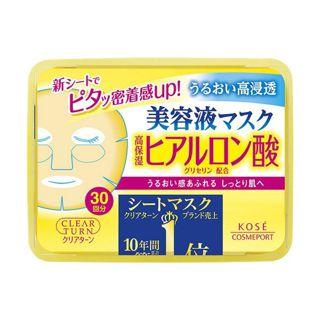 クリアターン コーセークリアターン エッセンスマスク(ヒアルロン酸)30回分の画像