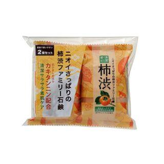 ペリカン石鹸 ペリカン石鹸 ファミリー柿渋石鹸 2個セットの画像