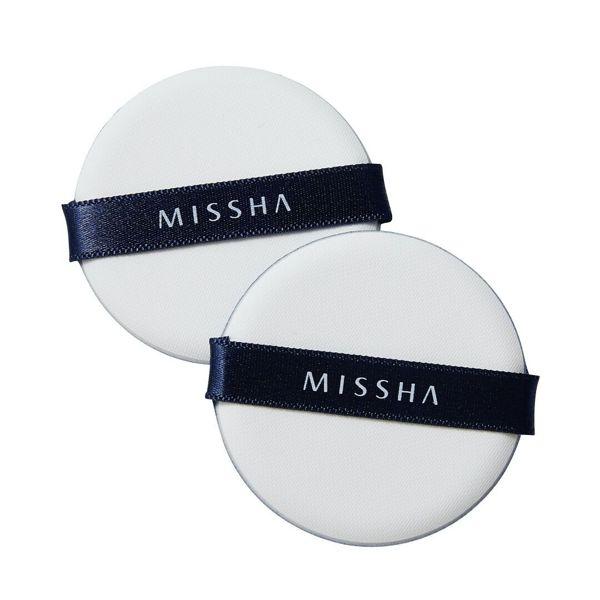 ミシャのミシャ エアイン パフ  5.5×5.5×0.7(cm) 2個に関する画像1