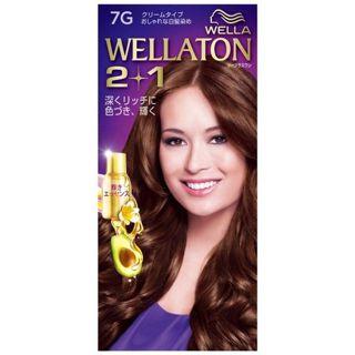 ウエラ ウエラトーン ツープラスワン クリームタイプ 7G 明るいウォームブラウン 60g×2+7.3mlの画像