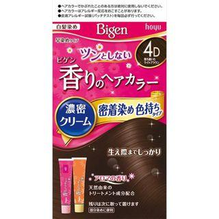ビゲン ビゲン 香りのへアカラー濃密クリーム 密着染め色持ちタイプ 4D(落ち着いたライトブラウン)/ホーユーの画像