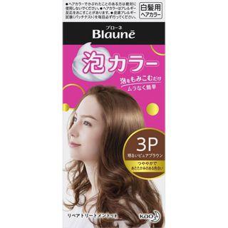 花王 ブローネ 泡カラー 3P 明るいピュアブラウン 花王の画像