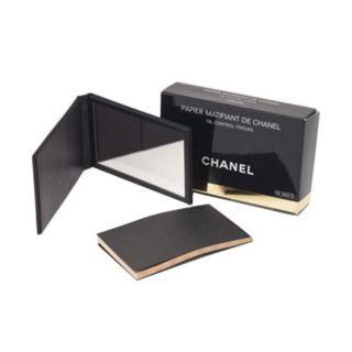 シャネル CHANEL 520399 オイルコントロールティッシュ あぶら取り紙 ミラー付きケース/シート150枚の画像