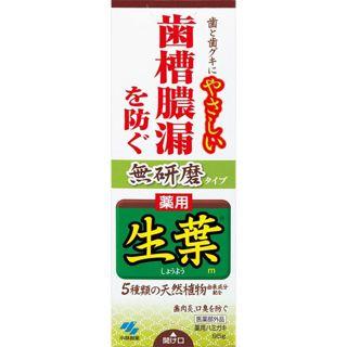 小林製薬 薬用 生葉 無研磨タイプ 95g/小林製薬の画像