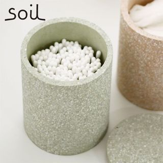 null soil 珪藻土 コットンスワブ コンテナ ホワイトの画像