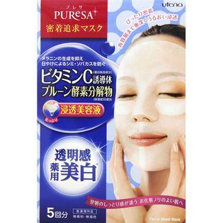 null ウテナプレサ シートマスク ビタミンC5枚(医薬部外品)の画像