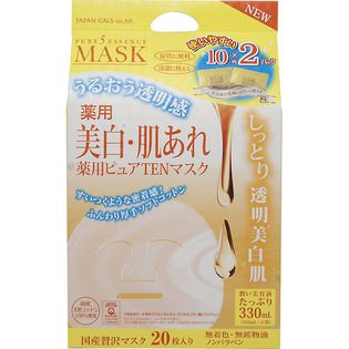ジャパンギャルズ ジャパンギャルズピュア5 エッセンスマスク(薬用)20枚入(医薬部外品)の画像