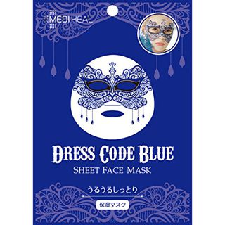 インターナショナルコスメティックス インターナショナルコスメティックスメディヒル フェイスマスク ドレスコード ブルー1枚入の画像