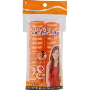 ラッキーウィンク ラッキーコーポレーション美人巻きカーラーセレブ系ロング 28mm オレンジの画像