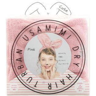 コジット コジットUSAMIMIドライヘアターバン Pinkの画像