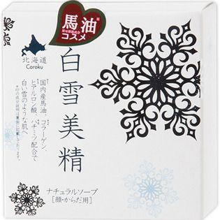 北海道Coroku 小六白雪美精 ナチュラルソープ(顔・からだ用)100gの画像
