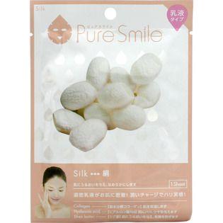 ピュアスマイル サンスマイルピュアスマイル 乳液エッセンスマスク 絹1枚の画像