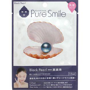 ピュアスマイル サンスマイルピュアスマイル 乳液エッセンスマスク 黒真珠1枚の画像