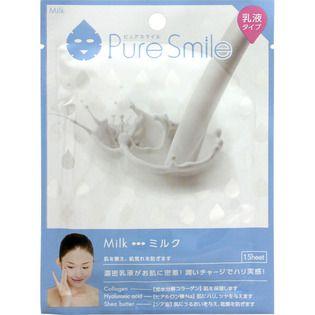 ピュアスマイル サンスマイルピュアスマイル 乳液エッセンスマスク ミルク1枚の画像