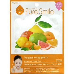 ピュアスマイル サンスマイルピュアスマイル 乳液エッセンスマスク ビタミン1枚の画像