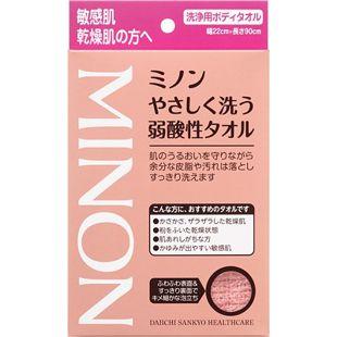 ミノン ミノンやさしく洗う 弱酸性タオル の画像 0