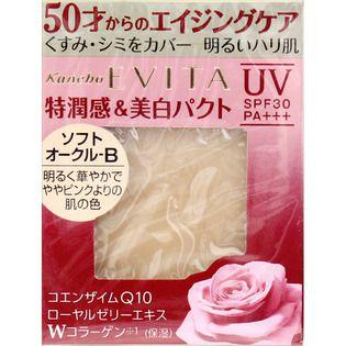 エビータ カネボウ化粧品エビータ ブライトニングエッセンスパクト SO-BソフトオークルーBの画像