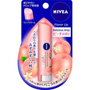 ニベア 花王ニベア フレーバーリップ デリシャスドロップ ピーチの香り3.5Gの画像