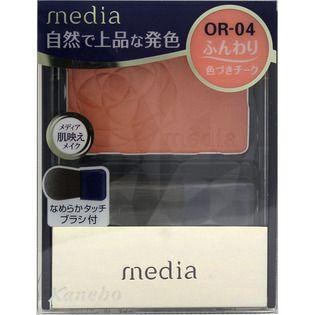 メディア カネボウ化粧品メディア ブライトアップチークN オレンジ系OR-04の画像