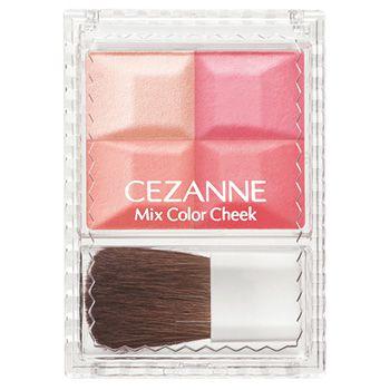 セザンヌ化粧品ミックスカラーチーク 02 コーラル系のバリエーション3