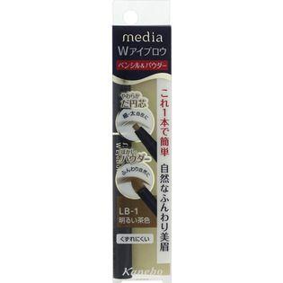 メディア カネボウ化粧品メディア Wアイブロウ ペンシル&パウダー 明るい茶色LB-1の画像