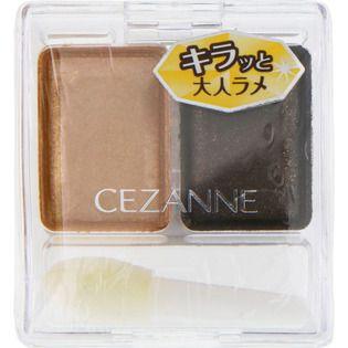 セザンヌのツーカラー アイシャドウ ラメシリーズ 01 ゴージャスゴールド系に関する画像1