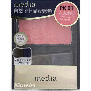 メディア カネボウ化粧品メディア ブライトアップチークN ピンク系PK-01の画像