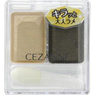 セザンヌ化粧品セザンヌ ツーカラー アイシャドウ ラメシリーズ 06 カーキブラウンのバリエーション2