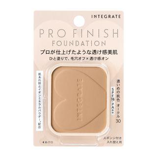 インテグレート プロフィニッシュファンデーション オークル30 濃いめの肌色 【レフィル】 10g SPF16 PA++の画像