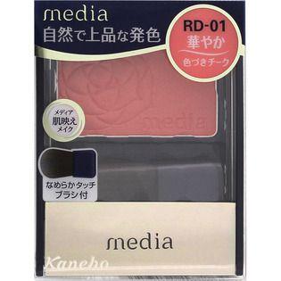 メディア カネボウ化粧品メディア ブライトアップチークN レッド系RD-01の画像