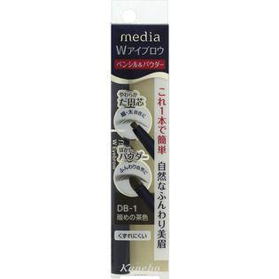 メディア カネボウ化粧品メディア Wアイブロウ ペンシル&パウダー 暗めの茶色DB-1の画像