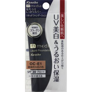 メディア カネボウ化粧品メディア リキッドファンデーションUV 健康的な肌の色OCーE1の画像