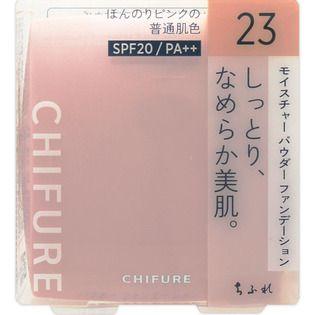 ちふれ モイスチャー パウダー ファンデーション 23 ピンク オークル系/ほんのりピンクの普通肌色 14g SPF20 PA++の画像
