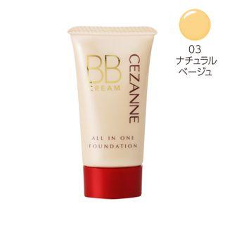 セザンヌ BBクリーム 03 ナチュラルベージュ 40g SPF23 PA++の画像