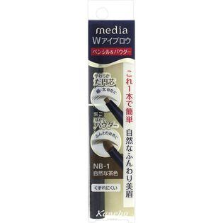 メディア カネボウ化粧品メディア Wアイブロウ ペンシル&パウダー 自然な茶色NB-1の画像