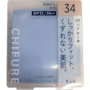 ちふれ UV バイ ケーキ 33 オークル系/健康的な肌色 14g SPF33 PA++の画像
