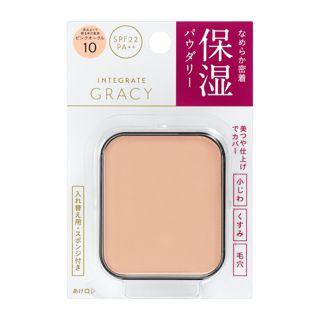 グレイシィ モイストパクトEX ピンクオークル10 赤みよりで明るめの肌色  【レフィル】 11g SPF22 PA++の画像
