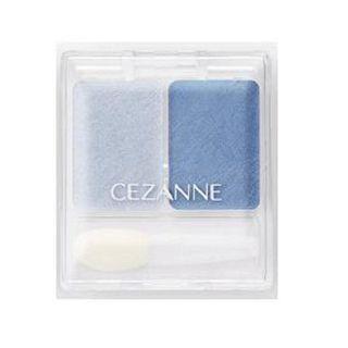 セザンヌ ツーカラー アイシャドウ ラメシリーズ 03 すっきりブルー系の画像