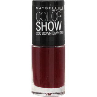 メイベリン ニューヨーク カラー ショー ネイル 230 ダウンタウン レッド 生産終了の画像