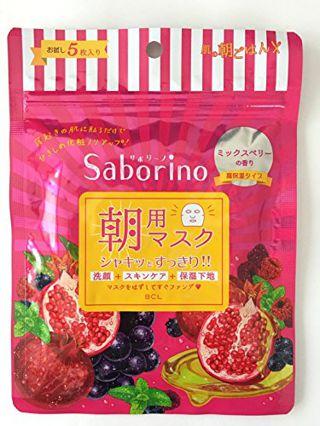 サボリーノ サボリーノ 目ざまシート 完熟果実の高保湿タイプ  お試し5枚入りの画像