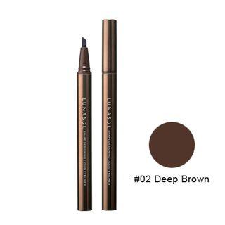 ルナソル シェイプデザイニングリクイドアイライナー 02 Deep Brown 0.4mlの画像